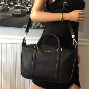 Handbags - Michael Kors Raven satchel black leather handbag